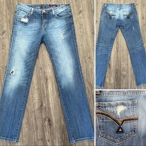 Vigoss Distressed Straight Leg Jeans 9